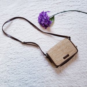 Handbags - Straw Crossbody Purse with Storage & Mirror